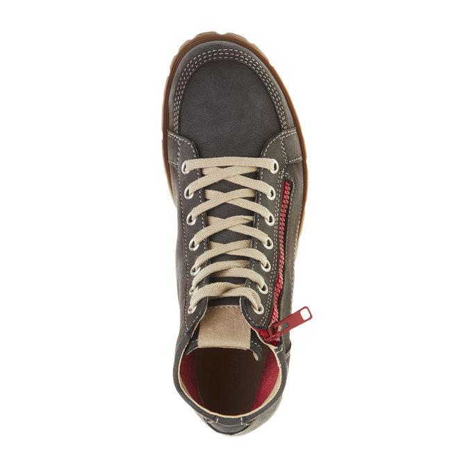 Skórzane buty sportowe do kostki z suwakiem weinbrenner, szary, 596-9110 - 19