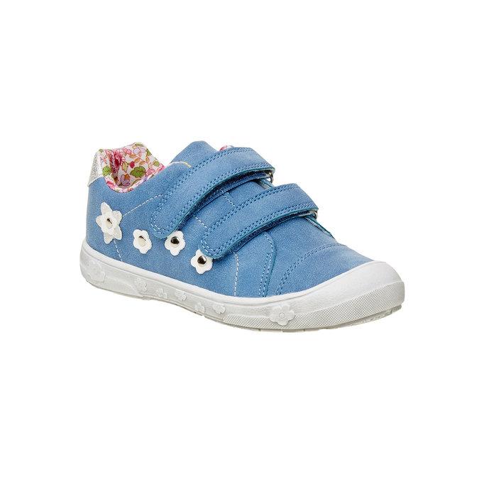 Dziewczęce buty sportowe na rzepy mini-b, niebieski, 221-9161 - 13