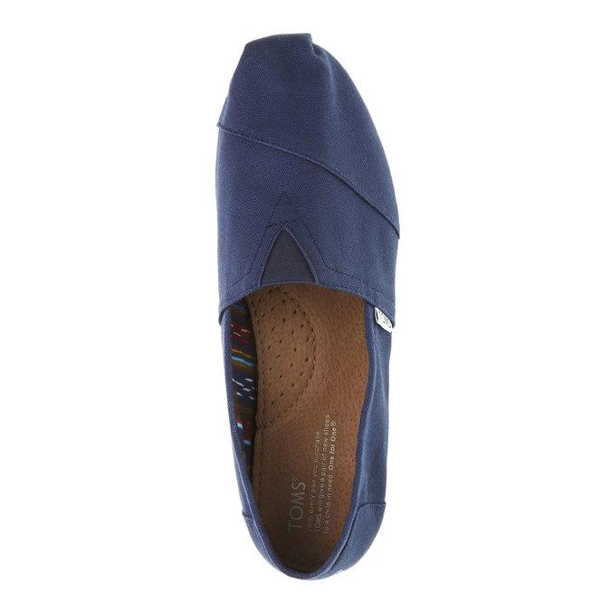 Męskie slip on toms, niebieski, 819-9004 - 19