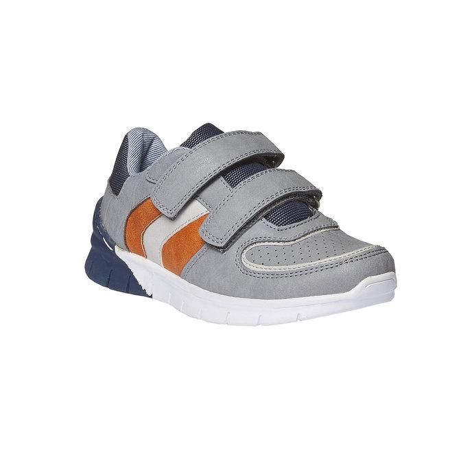 Dziecięce buty sportowe na rzepy mini-b, szary, 311-2190 - 13