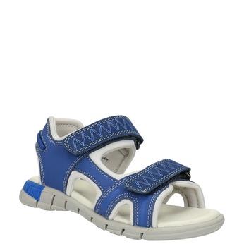 Dziecięce sandały ze skórzanymi paskami mini-b, niebieski, 264-9166 - 13