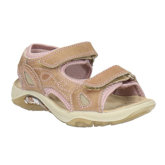 Dziecięce skórzane sandały weinbrenner-junior, brązowy, 366-3170 - 13