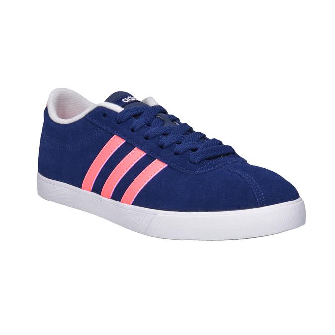 Damskie skórzane buty sportowe adidas, niebieski, 503-9201 - 13