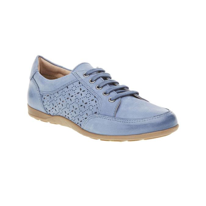 Skórzane buty sportowe na co dzień bata, niebieski, 524-9511 - 13