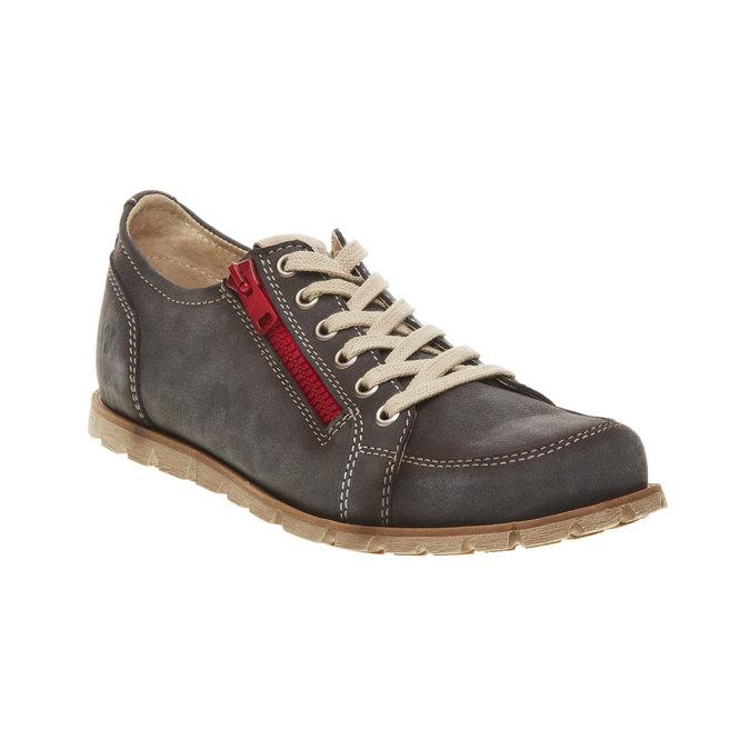 Skórzane buty sportowe z zamkiem weinbrenner, brązowy, 546-9246 - 13