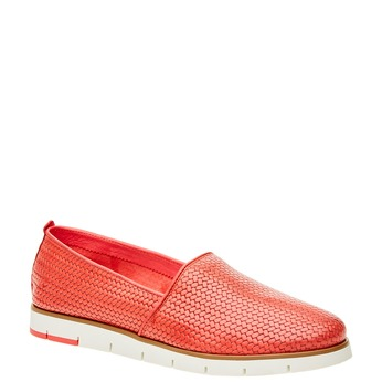 Damskie buty Slip on z plecionym wzorem flexible, czerwony, 515-5203 - 13