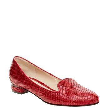 Czerwone skórzane mokasyny bata, czerwony, 524-5412 - 13