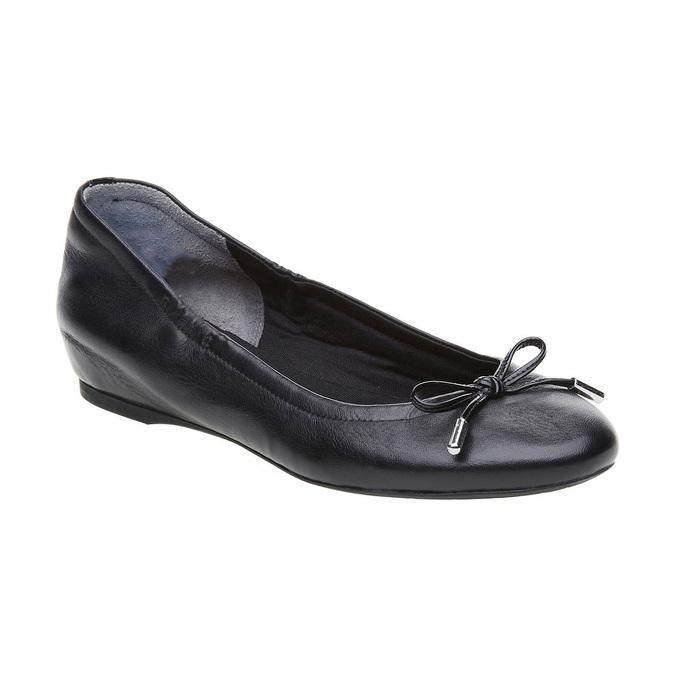 Czarne skórzane baleriny rockport, czarny, 524-6121 - 13
