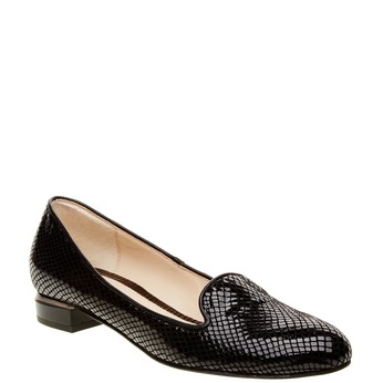 Damskie skórzane mokasyny bata, czarny, 524-6412 - 13