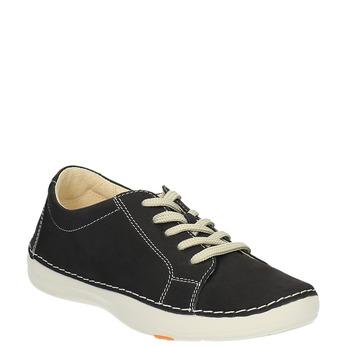 Skórzane buty sportowe na co dzień flexible, czarny, 526-6603 - 13
