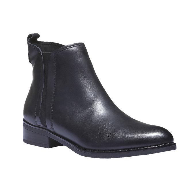 Skórzane buty o kroju Chelsea bata, czarny, 594-6624 - 13