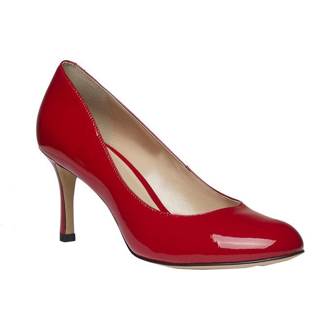 Czerwone skórzane czółenka bata, czerwony, 728-5953 - 13