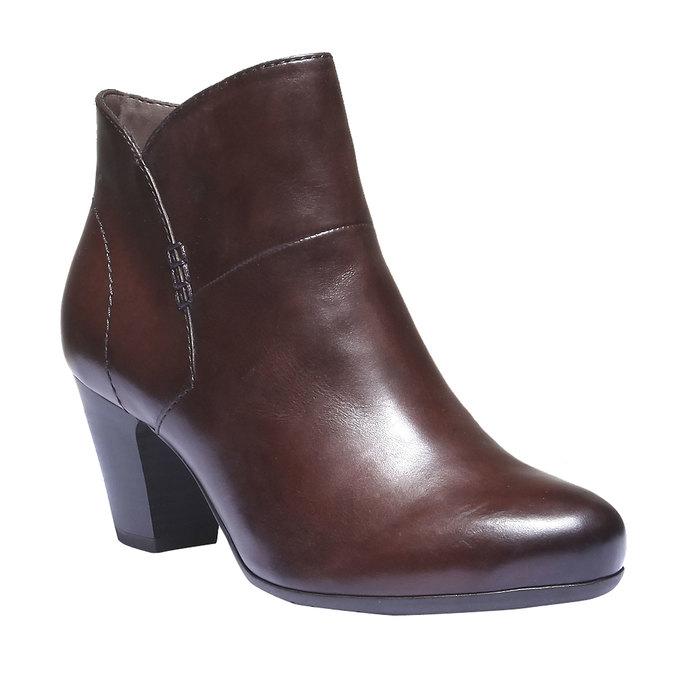 Skórzane botki bata, brązowy, 794-4109 - 13