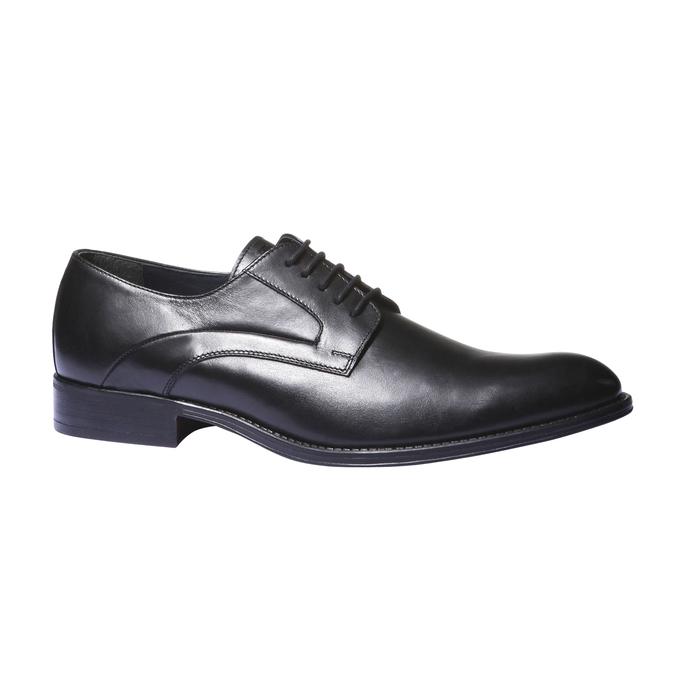 Skórzane półbuty w stylu derby bata, czarny, 824-6108 - 13