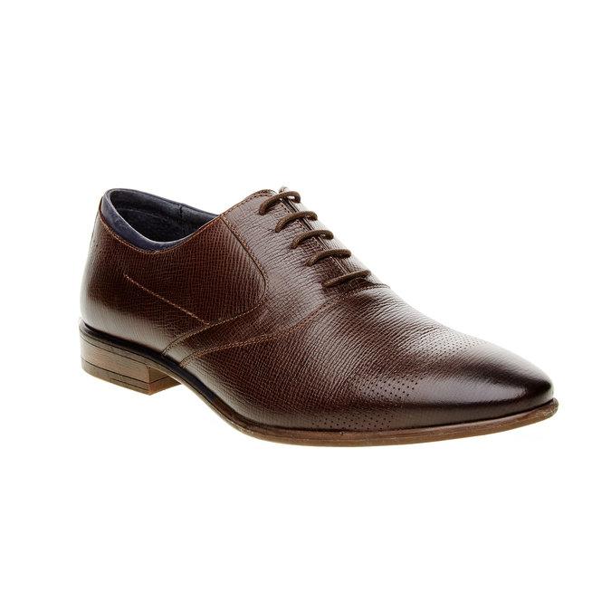Skórzane półbuty o kroju Oxford bata, brązowy, 824-4812 - 13
