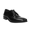 Półbuty męskie ze skóry bata, czarny, 824-6705 - 13