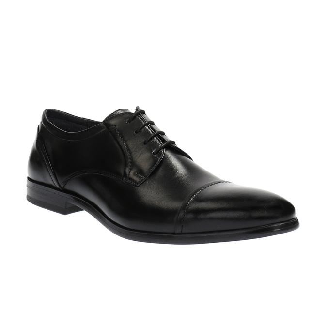 Półbuty męskie ze skóry bata, czarny, 824-6710 - 13