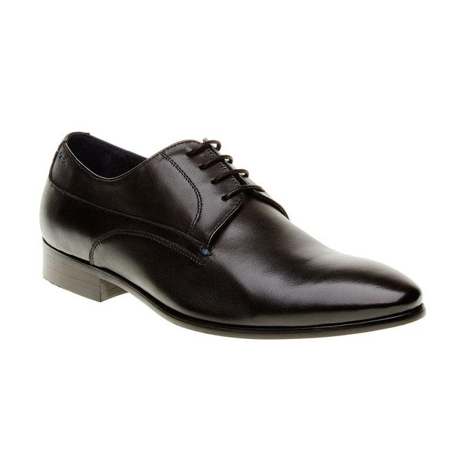Męskie skórzane półbuty bata, czarny, 824-6663 - 13