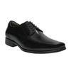 Czarne skórzane półbuty bata, czarny, 824-6724 - 13