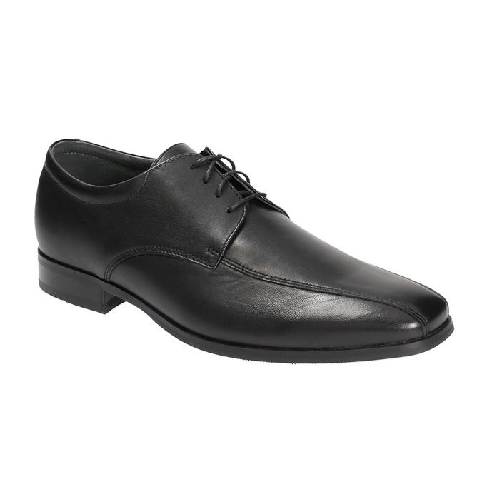 Męskie skórzane półbuty bata, czarny, 824-6669 - 13