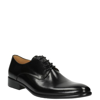 Półbuty męskie ze skóry bata, czarny, 824-6648 - 13
