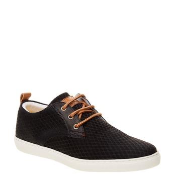 Skórzane buty sportowe na co dzień z wytłoczonym wzorem bata, 843-9320 - 13