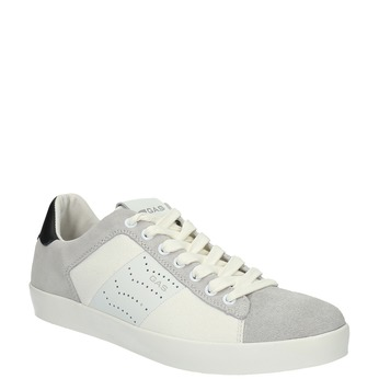 Męskie buty sportowe w codziennym stylu gas, biały, 843-1619 - 13