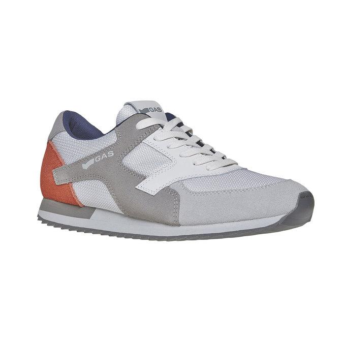 Męskie buty sportowe w codziennym stylu gas, szary, 843-2590 - 13