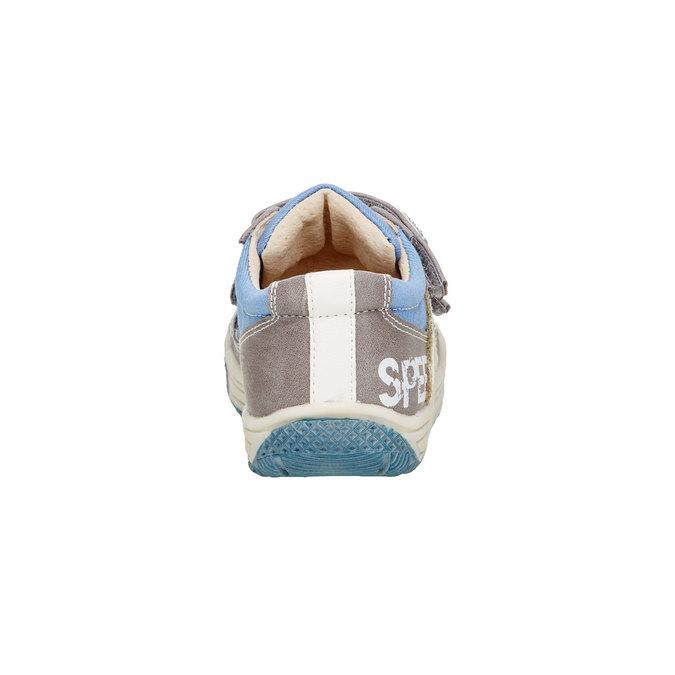 Dziecięce buty na rzep mini-b, szary, 111-2104 - 17