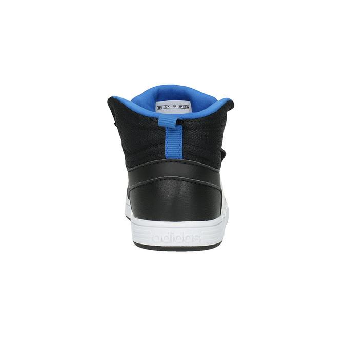 Trampki dziecięce za kostkę, zapinane na rzepy adidas, czarny, 101-6231 - 17