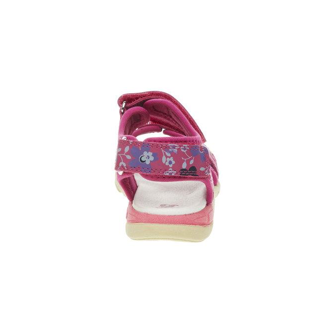 Skórzane dziewczęce sandały mini-b, różowy, 369-5500 - 17
