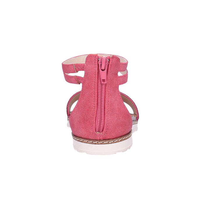 Dziecięce różowe sandały mini-b, różowy, 361-5161 - 17
