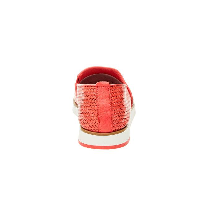 Damskie buty Slip on z plecionym wzorem flexible, czerwony, 515-5203 - 17