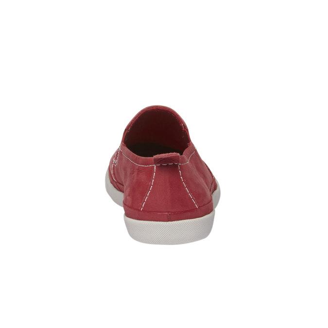 Skórzane buty Plim Soll z perforacją bata, czerwony, 514-5197 - 17