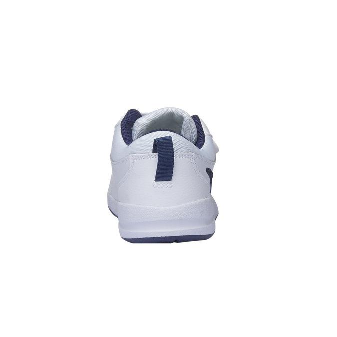 Dziecięce buty sportowe na rzep nike, biały, niebieski, 304-9548 - 17