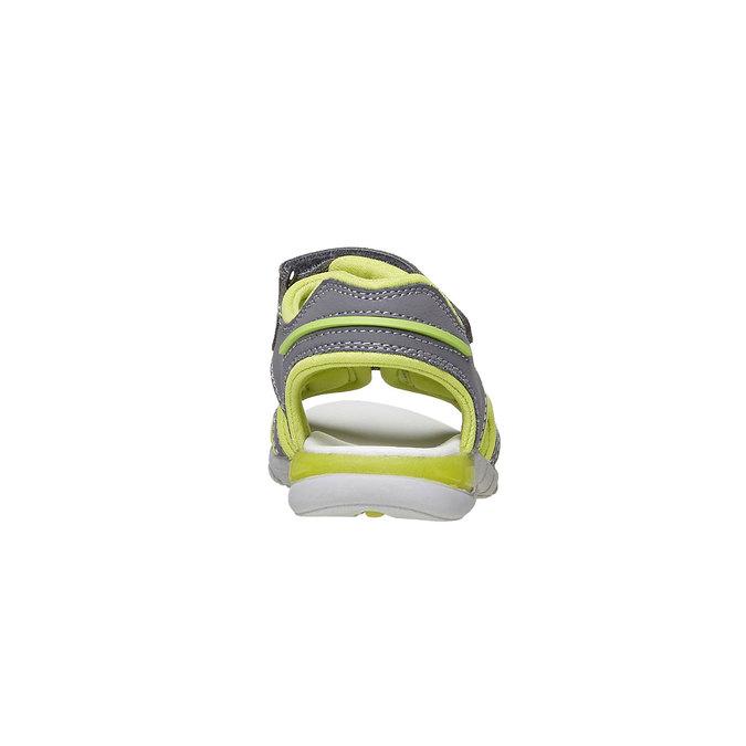 Dziecięce sandały ze skórzanymi paskami mini-b, szary, 264-2166 - 17