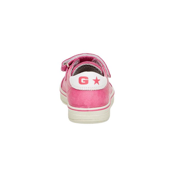 Dziecięce skórzane buty sportowe mini-b, różowy, 223-5120 - 17