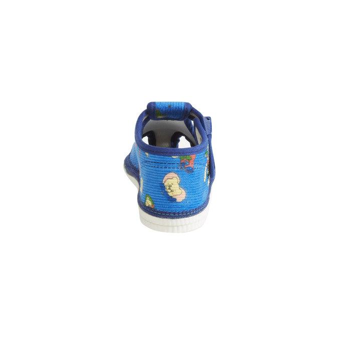 Kapcie dziecięce do kostki bata, niebieski, 179-9210 - 17