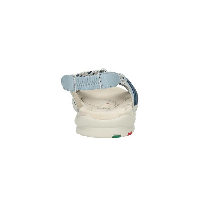 Damskie skórzane sandały bata-touch-me, niebieski, 564-9353 - 17