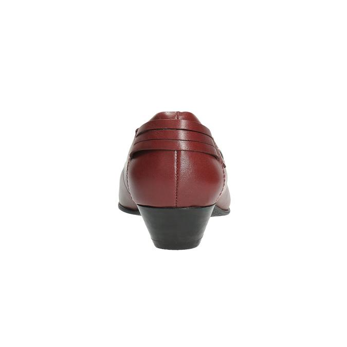 Czółenka ze skóry na niskim obcasie bata, czerwony, 624-5603 - 17