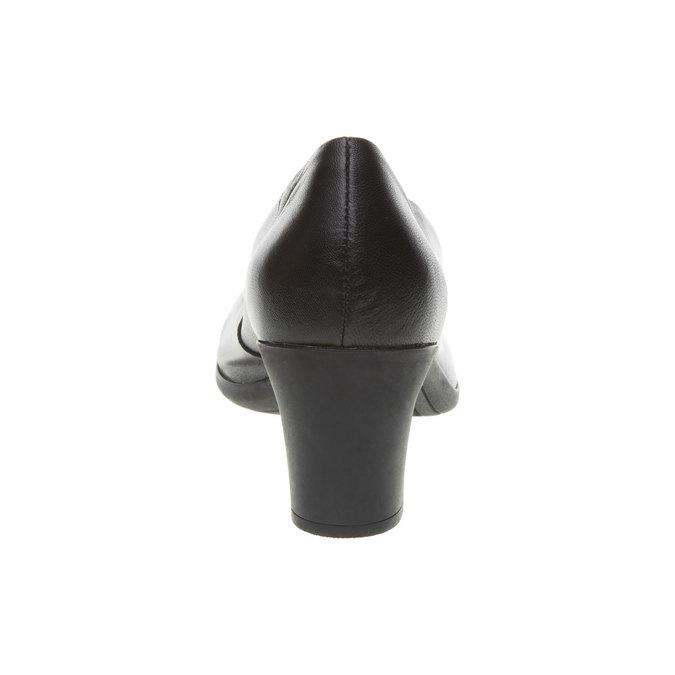 Czarne skórzane czółenka flexible, czarny, 624-6393 - 17
