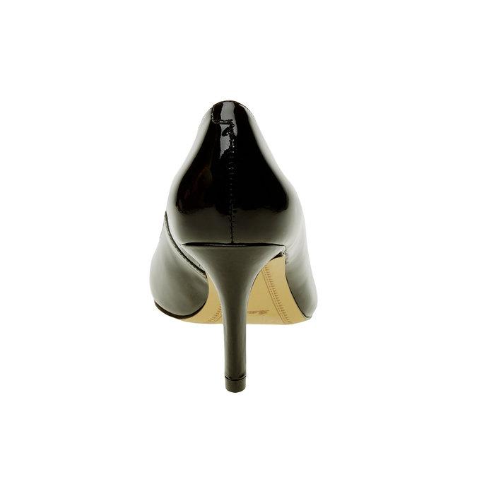 Damskie czółenka z lakierowanej skóry bata, czarny, 728-6953 - 17