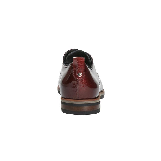 Półbuty angielki damskie bata, czerwony, 528-5600 - 17