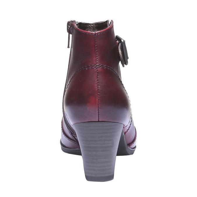Skórzane botki bata, czerwony, 794-5100 - 17