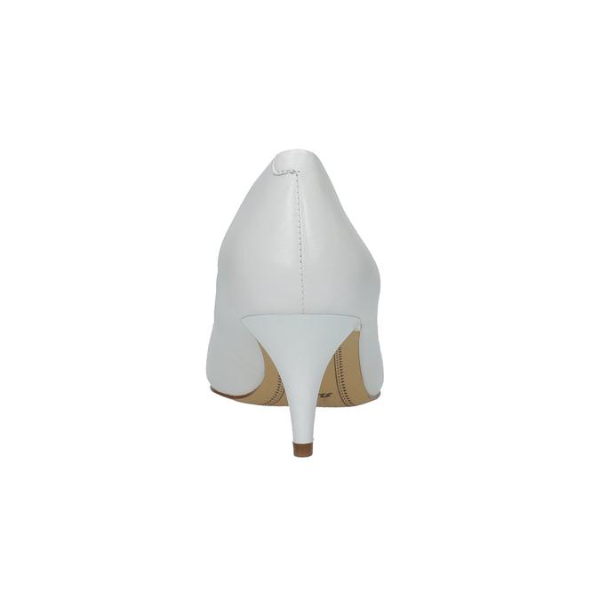 Białe czółenka ze skóry bata, biały, 624-1630 - 17