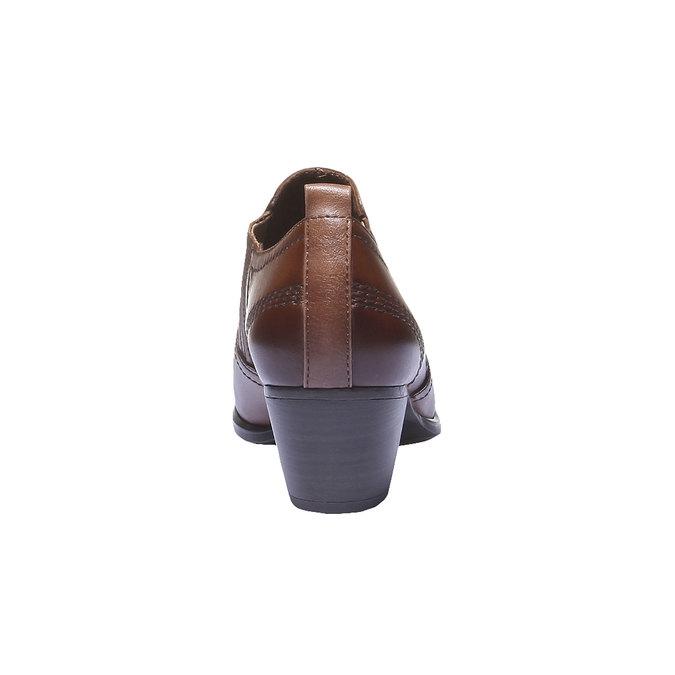 Skórzane kozaki do kostki bata, brązowy, 616-4100 - 17