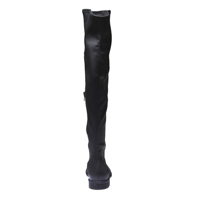 Skórzane kozaki do kolan bata, czarny, 596-6100 - 17