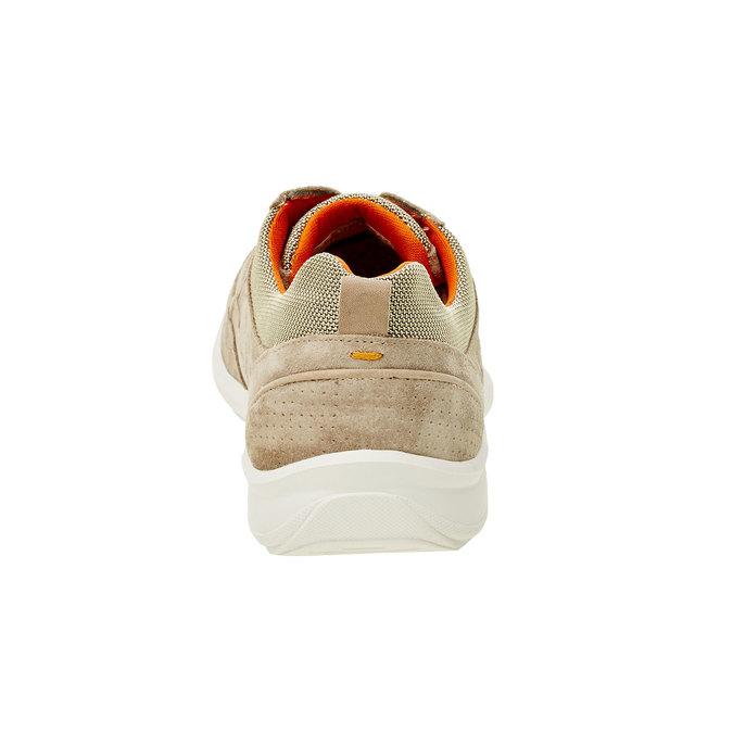 Skórzane buty sportowe na co dzień, beżowy, 843-8643 - 17