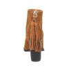 Skórzane botki z chwostem bata, brązowy, 793-4601 - 17