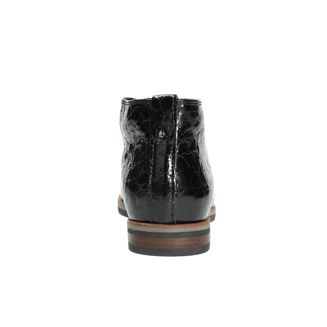 Damskie półbuty ze skóry za kostkę bata, czarny, 598-6601 - 17